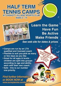 A5 Tennis Camp Flyer