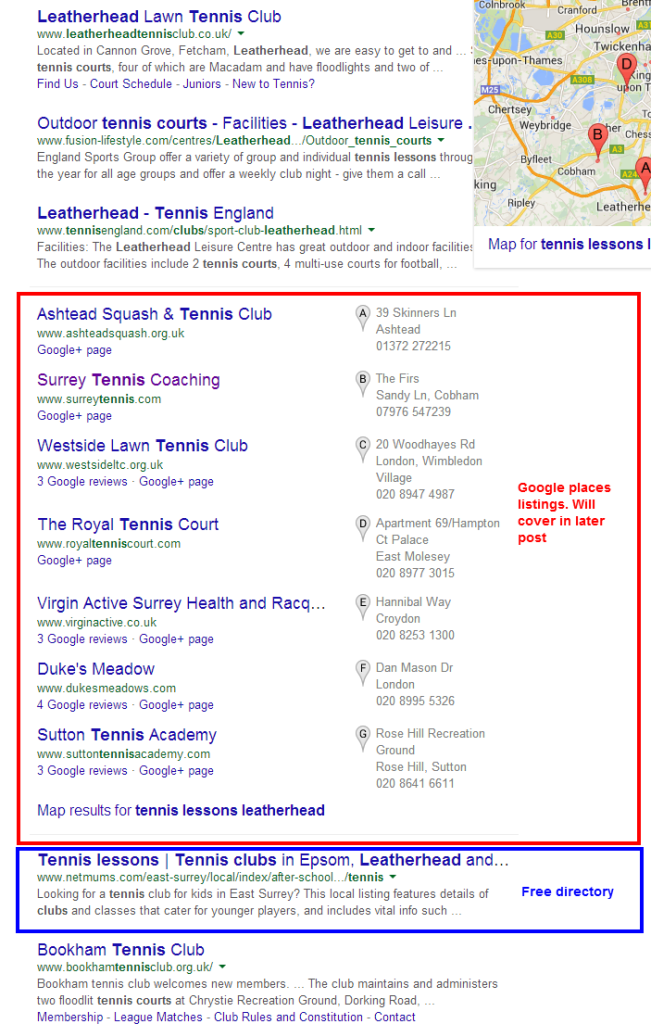 tennis lessons leatherhead   Google Search